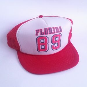 Vintage 80s Trucker Hat Cap Florida Spring Break